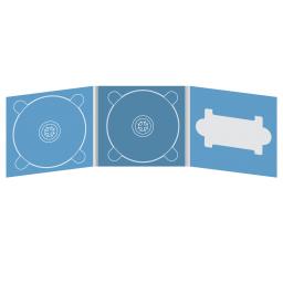 Digipack CD 6 полос 2 трея с вырезом под флешку (справа)