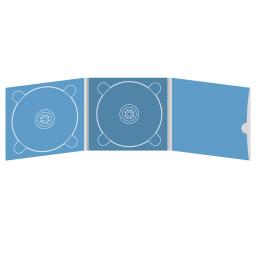 Digipack CD 6 полос 2 трея с рукавом для буклета и вырезом под палец (внешний) (справа)