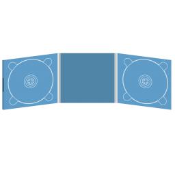 Digipack CD 6 полос 2 трея с буклетом (вклеенным) (в центре) на магните