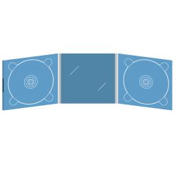 Digipack CD 6 полос 2 трея с вырезом под визитку (в центре) на магните