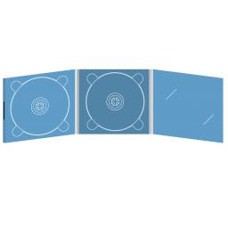 Digipack CD 6 полос 2 трея с вырезом под визитку (справа) на магните