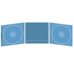 Digipack CD 6 полос 2 трея с прорезью для буклета (в центре) на магните