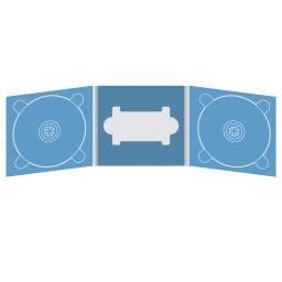 Digipack CD 6 полос 2 трея с вырезом под флешку (в центре)