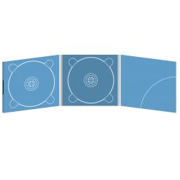 Digipack CD 6 полос 2 трея с карманом для буклета (скругленный, справа) на магните