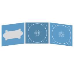 Digipack CD 6 полос 2 трея с вырезом под флешку (слева)