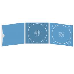 Digipack CD 6 полос 2 трея с рукавом для буклета и вырезом под палец (внутренний) (справа) на магните