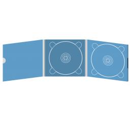 Digipack CD 6 полос 2 трея с рукавом для буклета и вырезом под палец (внешний) (слева) на магните