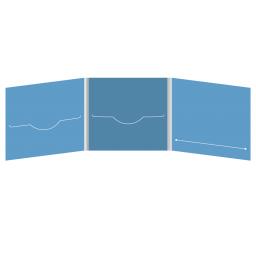 DigiFile CD 6 полос 2 прорези с прорезью для буклета (справа)