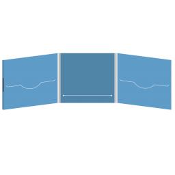 DigiFile CD 6 полос 2 прорези с прорезью для буклета (в центре) на магните