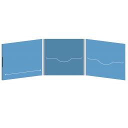 DigiFile CD 6 полос 2 прорези с прорезью для буклета (слева) на магните