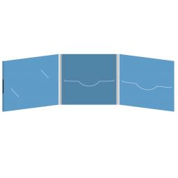 DigiFile CD 6 полос 2 прорези с вырезом под визитку (слева) на магните