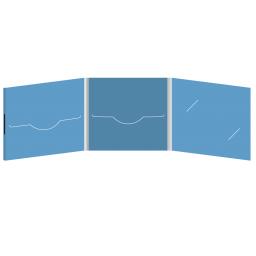 DigiFile CD 6 полос 2 прорези с вырезом под визитку (справа) на магните