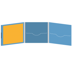 DigiFile CD 6 полос 2 прорези с буклетом (вклеенным) (слева) на магните