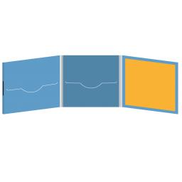 DigiFile CD 6 полос 2 прорези с буклетом (вклеенным) (справа) на магните