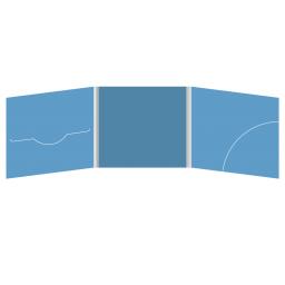 DigiFile CD 6 полос 1 прорезь (справа) с карманом для буклета (скругленный) (слева)