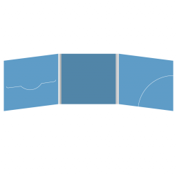 DigiFile CD 6 полос 1 прорезь (слева) с карманом для буклета (скругленный, справа)