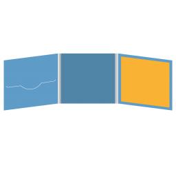 DigiFile CD 6 полос 1 прорезь (слева) с буклетом (вклеенным) (справа)