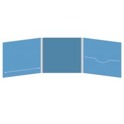 DigiFile CD 6 полос 1 прорезь (справа) с прорезью для буклета (слева)
