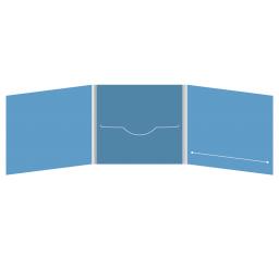 DigiFile CD 6 полос 1 прорезь (в центре) с прорезью для буклета (справа)