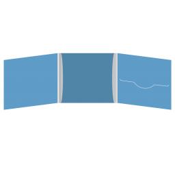 DigiFile CD 6 полос 1 прорезь (справа) с рукавом для буклета (в центре)