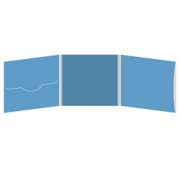 DigiFile CD 6 полос 1 прорезь (слева) с карманом для буклета (справа)