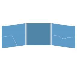 DigiFile CD 6 полос 1 прорезь (справа) с карманом для буклета (слева)