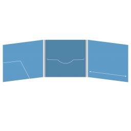 DigiFile CD 6 полос 1 прорезь с карманом для буклета (слева) и вырезом под буклет (справа)