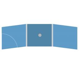 DigiFix CD 6 полос 1 спайдер (в центре) с карманом для буклета (скругленный, слева)