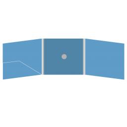 DigiFix CD 6 полос 1 спайдер (в центре) с карманом для буклета (слева)