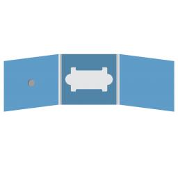 DigiFix CD 6 полос 1 спайдер (слева) с вырезом под визитку (в центре)