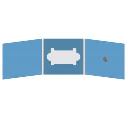 DigiFix CD 6 полос 1 спайдер (справа) с вырезом под визитку (в центре)