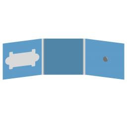 DigiFix CD 6 полос 1 спайдер (справа) с вырезом под визитку (слева)