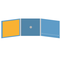 DigiFix CD 6 полос 1 спайдер  с прорезью для буклета (справа) и буклетом (вклеенным) (слева)
