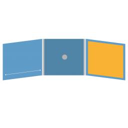 DigiFix CD 6 полос 1 спайдер  с прорезью для буклета (слева) и буклетом (вклеенным) (справа)