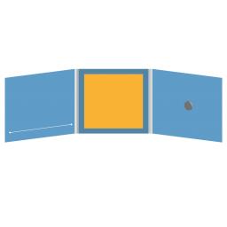 DigiFix CD 6 полос 1 спайдер  с прорезью для буклета (слева) и буклетом (вклеенным) (в центре)