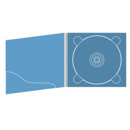 Digipack CD 4 полосы 1 трей с карманом для буклета (волной)