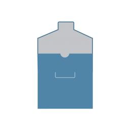 Картонный Конверт с вырезом под палец с клапаном с язычком