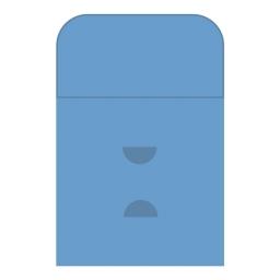 Картонный Конверт с клапаном с вырезом под визитку