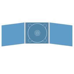 Digipack CD 6 полос 1 трей (в центре)