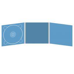 Digipack CD 6 полос 1 трей (слева)