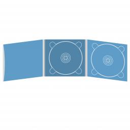 Digipack CD 6 полос 2 трея с рукавом для буклета (слева)