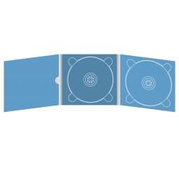 Digipack CD 6 полос 2 трея с рукавом для буклета и вырезом под палец (внутренний) (слева)