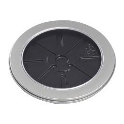 Tin Box CD круглый серебряный с окном