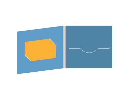 DigiFile CD 4 полосы 1 прорезь с вырезом под визитку