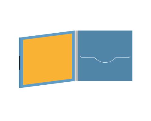 DigiFile CD 4 полосы 1 прорезь с буклетом (вклеенным) на магните