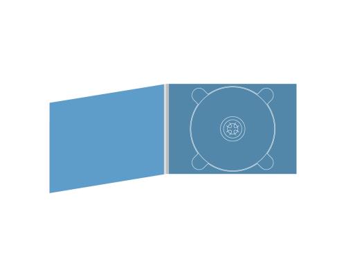 Digipack DVD 4 полосы 1 трей (справа) горизонтальный