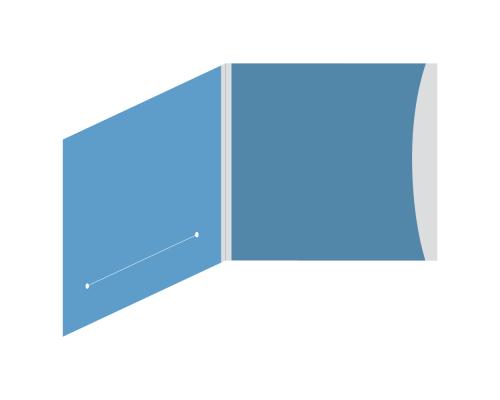 DigiSleeve CD 4 полосы 1 карман (внешний справа) + прорезь для буклета (слева)