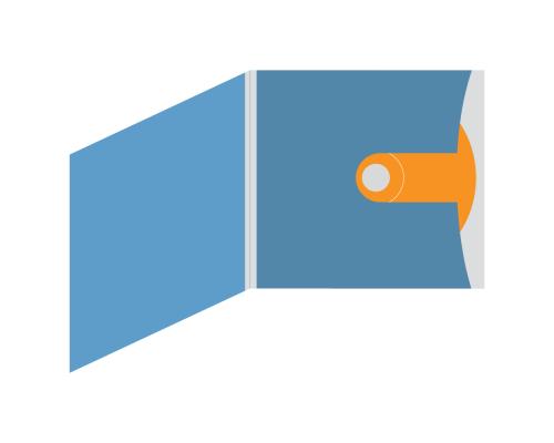 DigiSleeve CD 4 полосы 1 карман (внешний справа с большой выемкой под палец)