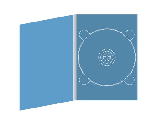Digipack DVD 4 полосы 1 трей (справа)