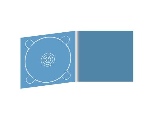 Digipack CD 4 полосы 1 трей (слева)
